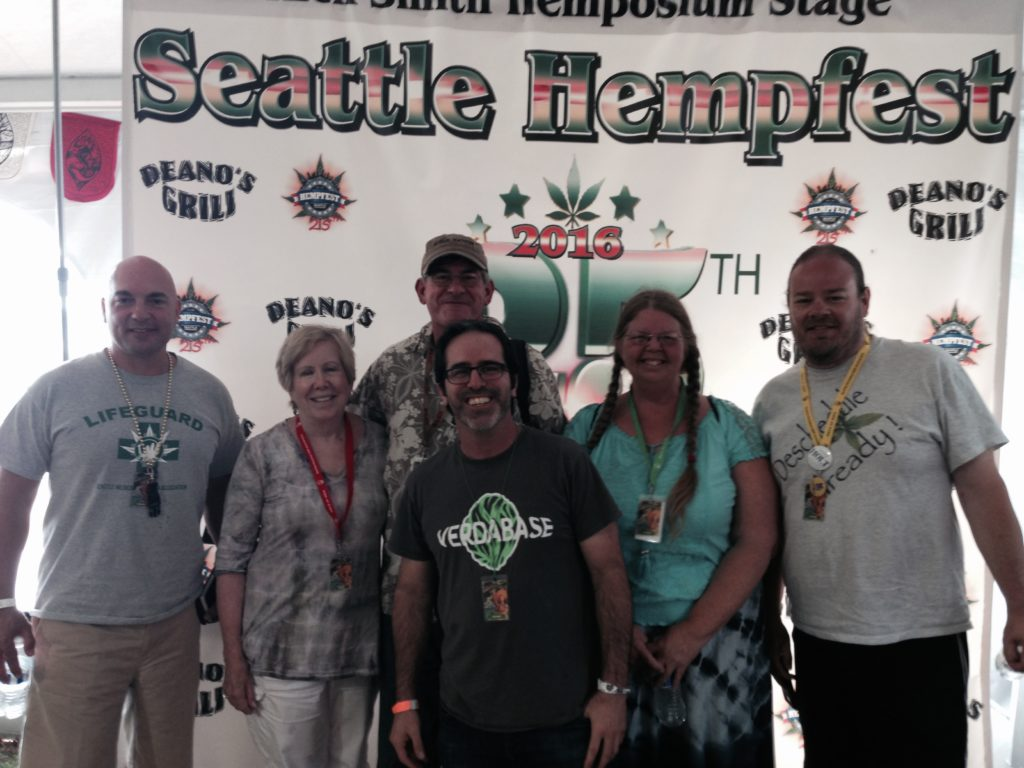 Seattle Hempfest 2016  Hemposium panel moderated by Dr. Corva.